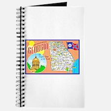 Georgia Map Greetings Journal