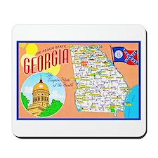 Georgia Map Greetings Mousepad