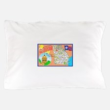 Georgia Map Greetings Pillow Case