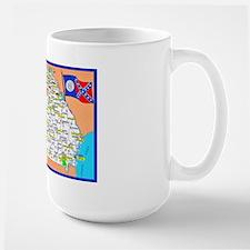 Georgia Map Greetings Large Mug