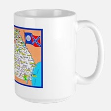 Georgia Map Greetings Mug