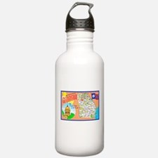 Georgia Map Greetings Water Bottle