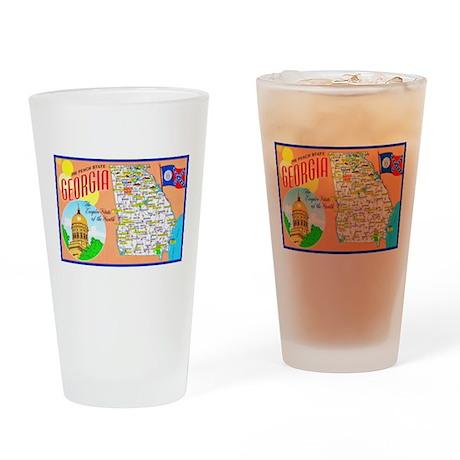 Georgia Map Greetings Drinking Glass