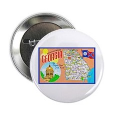 "Georgia Map Greetings 2.25"" Button"