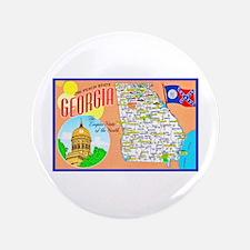 "Georgia Map Greetings 3.5"" Button"