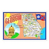 Georgia map Postcards
