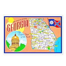 Georgia Map Greetings Postcards (Package of 8)
