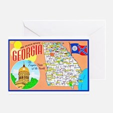 Georgia Map Greetings Greeting Card