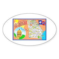 Georgia Map Greetings Decal