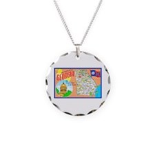 Georgia Map Greetings Necklace