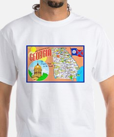 Georgia Map Greetings Shirt
