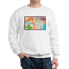 Georgia Map Greetings Sweatshirt
