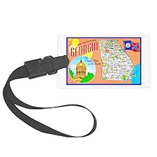 Georgia Map Greetings Luggage Tag
