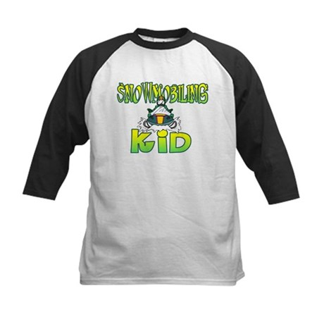 Snowmobiling Kid Baseball Jersey