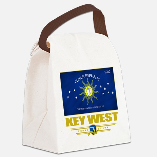 Key West (Flag 10).png Canvas Lunch Bag