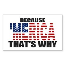 US Flag Because MERICA Thats Why Decal