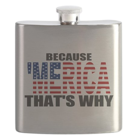 US Flag Because MERICA Thats Why Flask