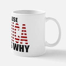 US Flag Because MERICA Thats Why Mug