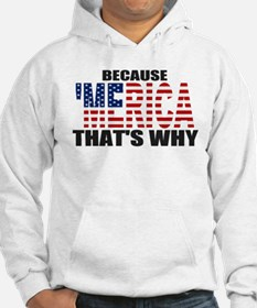 US Flag Because MERICA Thats Why Hoodie