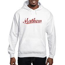 Mathew, Vintage Red Hoodie