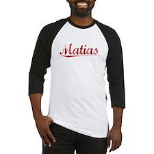 Matias, Vintage Red Baseball Jersey