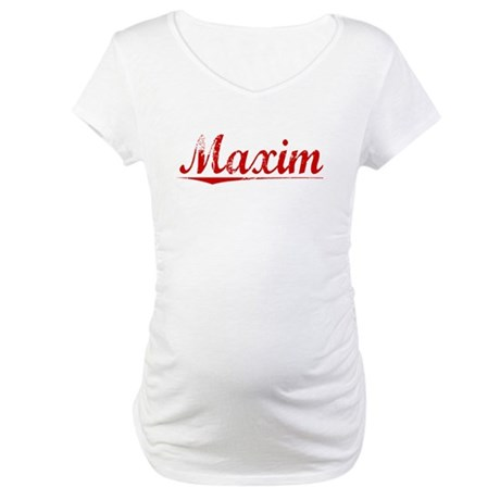 Maxim, Vintage Red Maternity T-Shirt