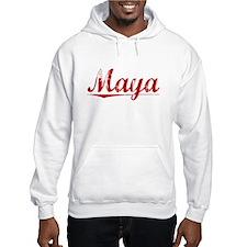 Maya, Vintage Red Hoodie