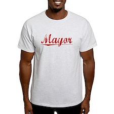 Mayor, Vintage Red T-Shirt