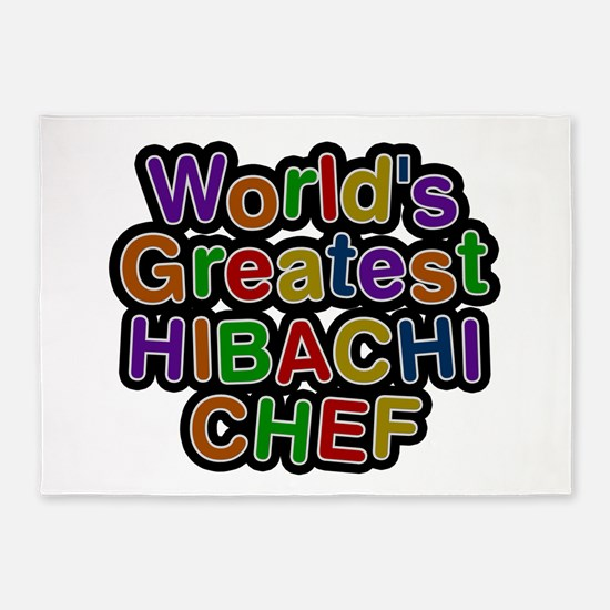 World's Greatest HIBACHI CHEF 5'x7' Area Rug