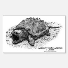 Alligator Snapping Turtle Rectangle Decal