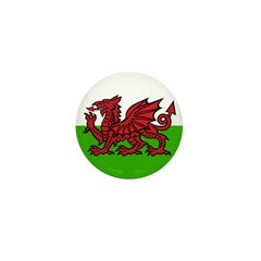 Welsh Flag Mini Button (100 pack)