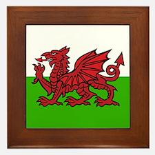 Welsh Flag Framed Tile