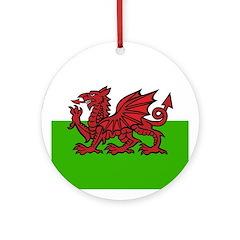 Welsh Flag Ornament (Round)
