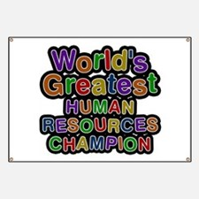 World's Greatest HUMAN RESOURCES CHAMPION Banner