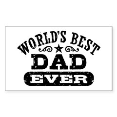 World's Best Dad Ever Decal