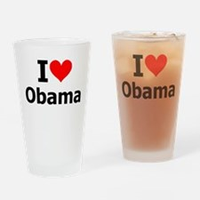 I Heart Obama Drinking Glass