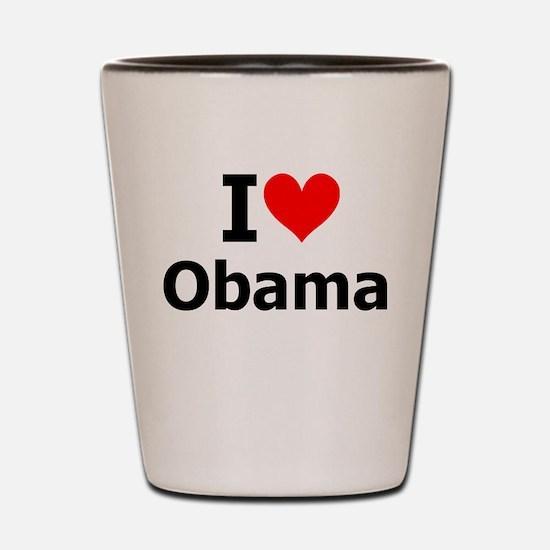 I Heart Obama Shot Glass