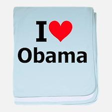 I Heart Obama baby blanket