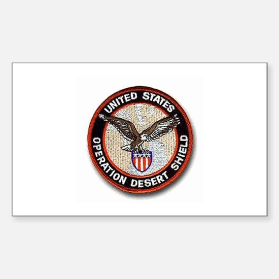 Operation Desert Shield.. Oval Sticker (10 pk) Sti