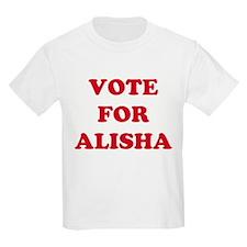 VOTE FOR ALISHA  Kids T-Shirt