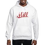 Mill, Vintage Red Hooded Sweatshirt