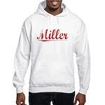 Miller, Vintage Red Hooded Sweatshirt