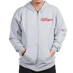 Milligan, Vintage Red Zip Hoodie