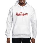 Milligan, Vintage Red Hooded Sweatshirt