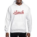 Minch, Vintage Red Hooded Sweatshirt