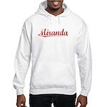 Miranda, Vintage Red Hooded Sweatshirt