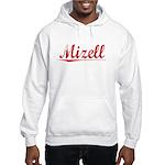 Mizell, Vintage Red Hooded Sweatshirt