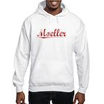 Moeller, Vintage Red Hooded Sweatshirt