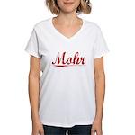 Mohr, Vintage Red Women's V-Neck T-Shirt