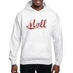 Moll, Vintage Red Hooded Sweatshirt